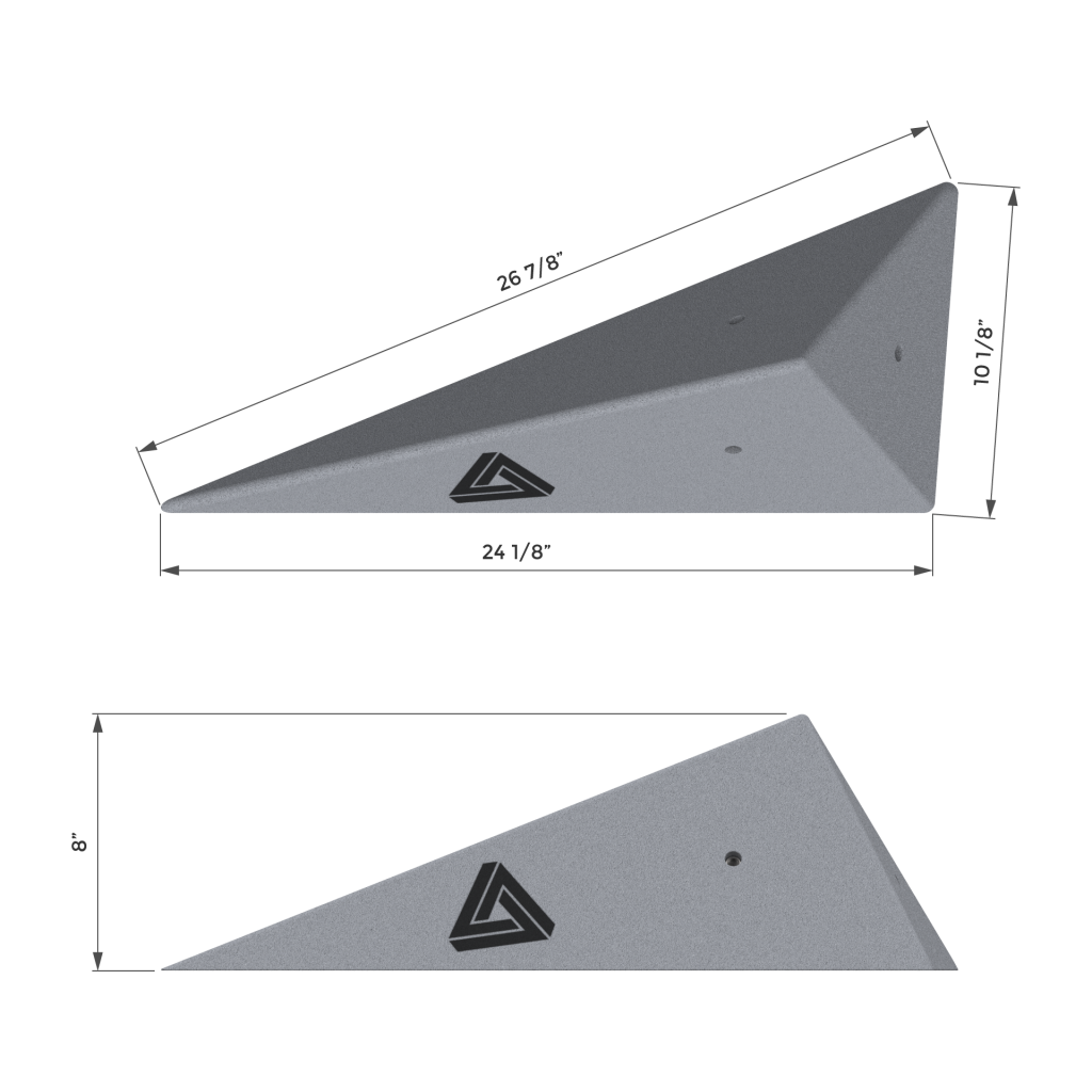 2 face triangle shape dimension