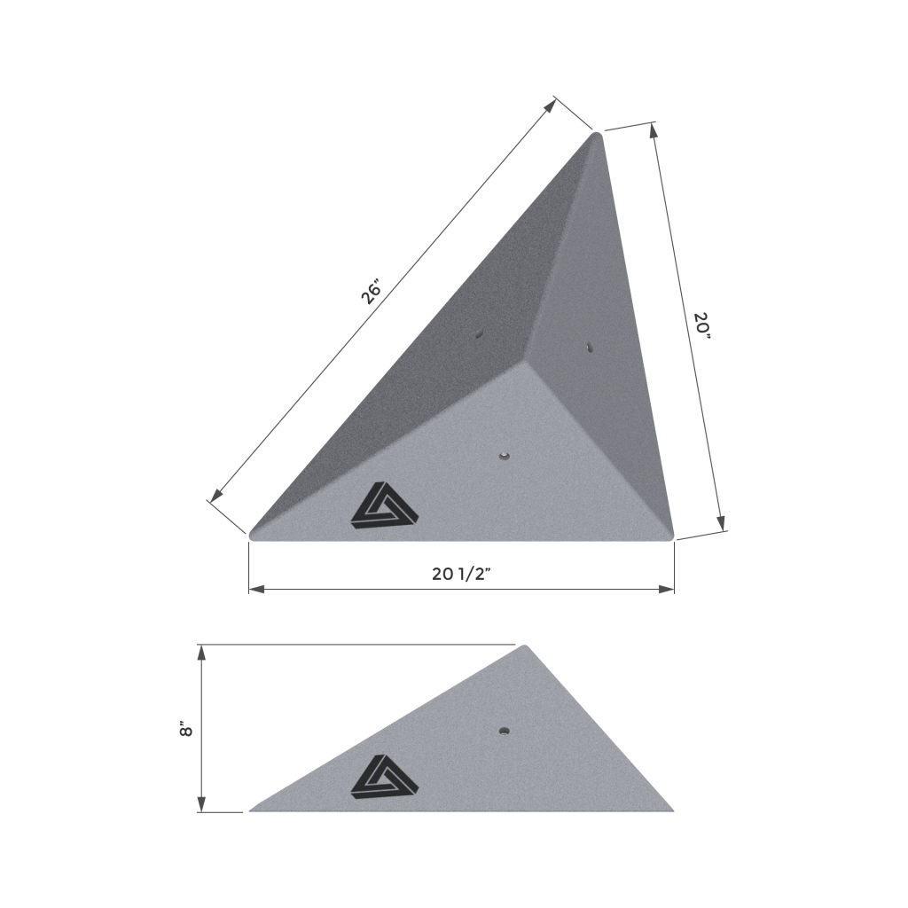 Triangle Climbing Volumes Dimensions
